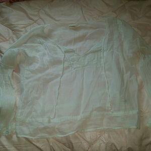 American Eagle white sheer shirt